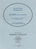Sonate en la mineur -Hautbois TELEMANN Partition laflutedepan.com