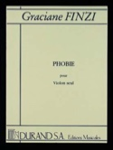 Phobie Graciane Finzi Partition Violon - laflutedepan.com