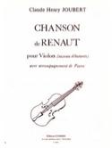 Chanson de Renaut Claude-Henry Joubert Partition laflutedepan.com