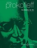 5 Mélodies opus 35a Serge Prokofiev Partition laflutedepan.com