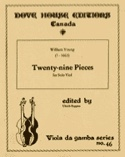 Twenty-nine pieces - solo viole William Young laflutedepan.com