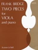 2 Pieces for viola and piano Frank Bridge Partition laflutedepan.com