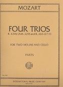 4 Trios KV 439b et KV 266 –2 Violins cello - Parts laflutedepan.com