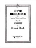 Suite hébraïque Ernest Bloch Partition Alto - laflutedepan.com