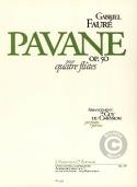Pavane op. 50 - 4 Flûtes Gabriel Fauré Partition laflutedepan.com