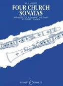 Four church sonatas MOZART Partition Clarinette - laflutedepan.com