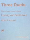 3 Duets - Flute oboe, violin clarinet BEETHOVEN laflutedepan.com