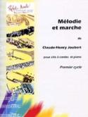 Mélodie et marche Claude-Henry Joubert Partition laflutedepan.com