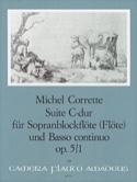 Suite en Do Majeur Opus 5 N° 1 Michel Corrette laflutedepan.com