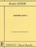 Assemblages 4 Bruno Giner Partition Flûte à bec - laflutedepan.com