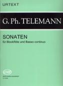 Sonaten -Blockflöten u. Bc TELEMANN Partition laflutedepan.com