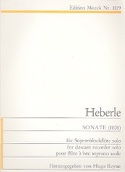 Sonate (1808) – Sopranblockflöte - Anton Heberle - laflutedepan.com