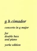 Strings Cimador Concerto G Major Double Bass & Piano Contemporary