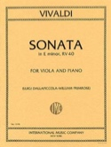 Sonata in E minor RV 40 – Viola Antonio Vivaldi laflutedepan.com