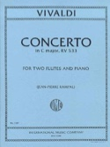 Concerto In C Major Rv 533 - 2 Flutes Piano VIVALDI laflutedepan.com