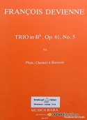 Trio in Bb op. 61 n° 5 -Flute clarinet bassoon - Parts laflutedepan.com