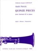 15 Pièces André Patrick Partition Clarinette - laflutedepan.com