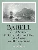 12 Sonates Volume 2 - 4 à 6 - Hautbois et Bc - laflutedepan.com