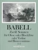 12 Sonates Volume 1 - 1 à 3 - Hautbois et Bc laflutedepan.com