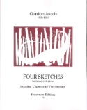 4 Sketches Gordon Jacob Partition Basson - laflutedepan.com