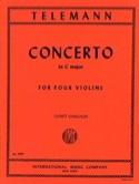 Concerto In C Major For 4 Violins Twv40:203 TELEMANN laflutedepan