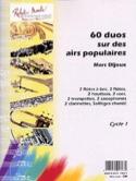 60 Duos sur des airs populaires Marc Dijoux laflutedepan.com