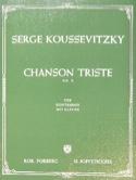 Chanson triste op. 2 Serge Koussevitzky Partition laflutedepan.com