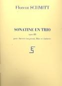 Sonatine en trio op. 85 Florent Schmitt Partition laflutedepan.com