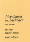 Ave Maria - 4 String basses Wilhelm K. F. Fitzenhagen laflutedepan.com