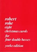8 Christmas Carols - 4 Contrebasses Robert Rohe laflutedepan.com