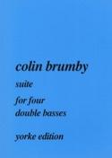 Suite for four double basses Colin Brumby Partition laflutedepan.com