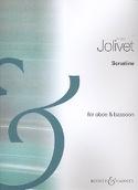Sonatine - Hautbois et basson André Jolivet Partition laflutedepan.com