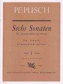 6 Sonates Volume 1 –sopranblockflöte U. Klavier laflutedepan.com