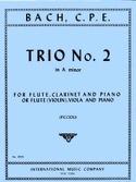 Trio n° 2 a minor –Flute (violin) clarinet (viola) piano laflutedepan.com