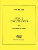 9 Esquisses Pierre-Max Dubois Partition Hautbois - laflutedepan.com