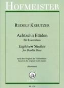 18 Etüden - Kontrabass Rodolphe Kreutzer Partition laflutedepan.com