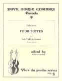 4 Suites - Viole de gambe DuBuisson Partition laflutedepan.com