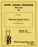 13 Suites - Viola da gamba - Volume 1 n° 1-6 laflutedepan.com
