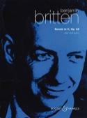 Sonata in C op. 65 Benjamin Britten Partition laflutedepan.com