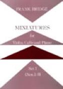 Miniatures - Set 1 (n° 1-3) –Parts - Frank Bridge - laflutedepan.com