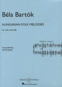 Hungarian Folk Melodies - Violin cello BARTOK laflutedepan.com