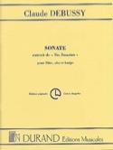 Sonate pour flûte, alto et harpe - Parties DEBUSSY laflutedepan.com