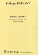 Nachtgesang (Quatuor complet) Philippe Hersant laflutedepan.com