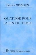 Quatuor pour la Fin du Temps - Olivier Messiaen - laflutedepan.com