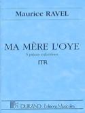 Ma Mère L'Oye Maurice Ravel Partition Grand format - laflutedepan.com