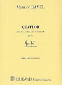Quatuor à cordes -Parties Maurice Ravel Partition laflutedepan.com
