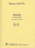 Sonate en Quatre Parties Maurice Ravel Partition laflutedepan.com
