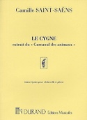 Le Cygne Camille Saint-Saëns Partition Violoncelle - laflutedepan.com