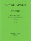 Concerto in C major RV 88 P. 82 - Flute oboe violin bassoon BC laflutedepan.com