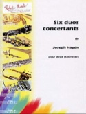 6 Duos concertants HAYDN Partition Clarinette - laflutedepan.com